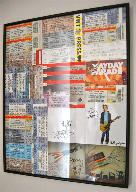 Great idea for putting all my concert memorabilia in a