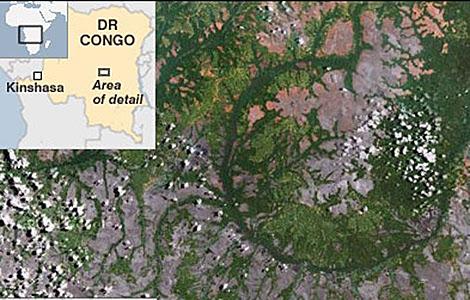 Imagen del cráter. | TerraMetrics | BBC