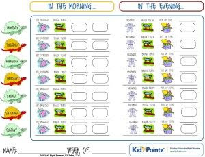 morning and evening chore checklist Daily Routine Charts For Kids ...