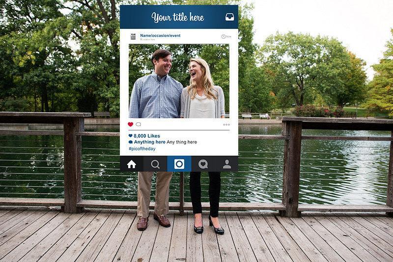 Custom Design Instagram Frame Photo Booth Prop Digital Download