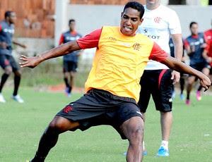 Cleber Santana treino Flamengo (Foto: Alexandre Vidal / Fla Imagem)