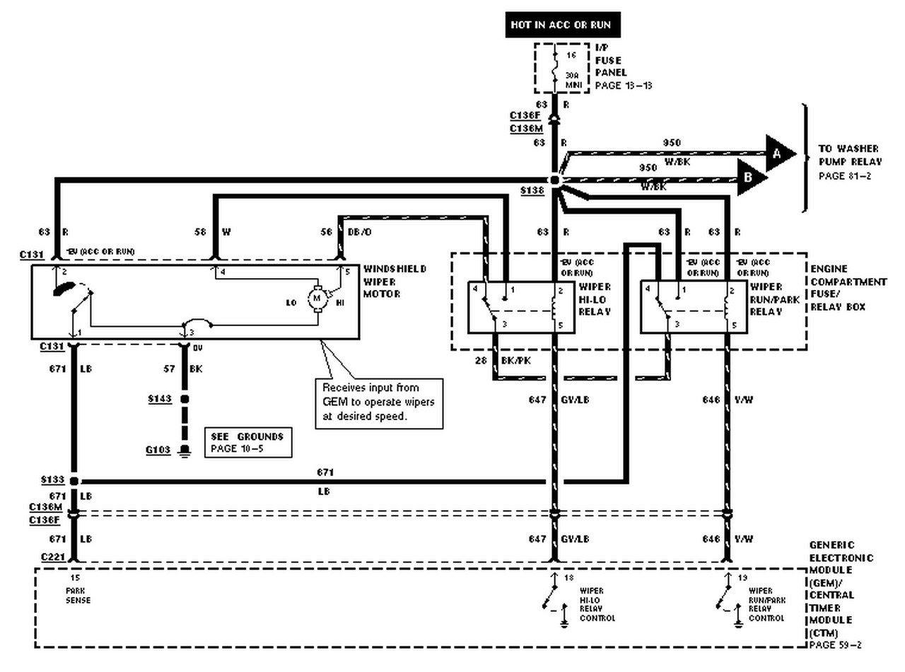 1998 Ford ranger dome light wiring diagram