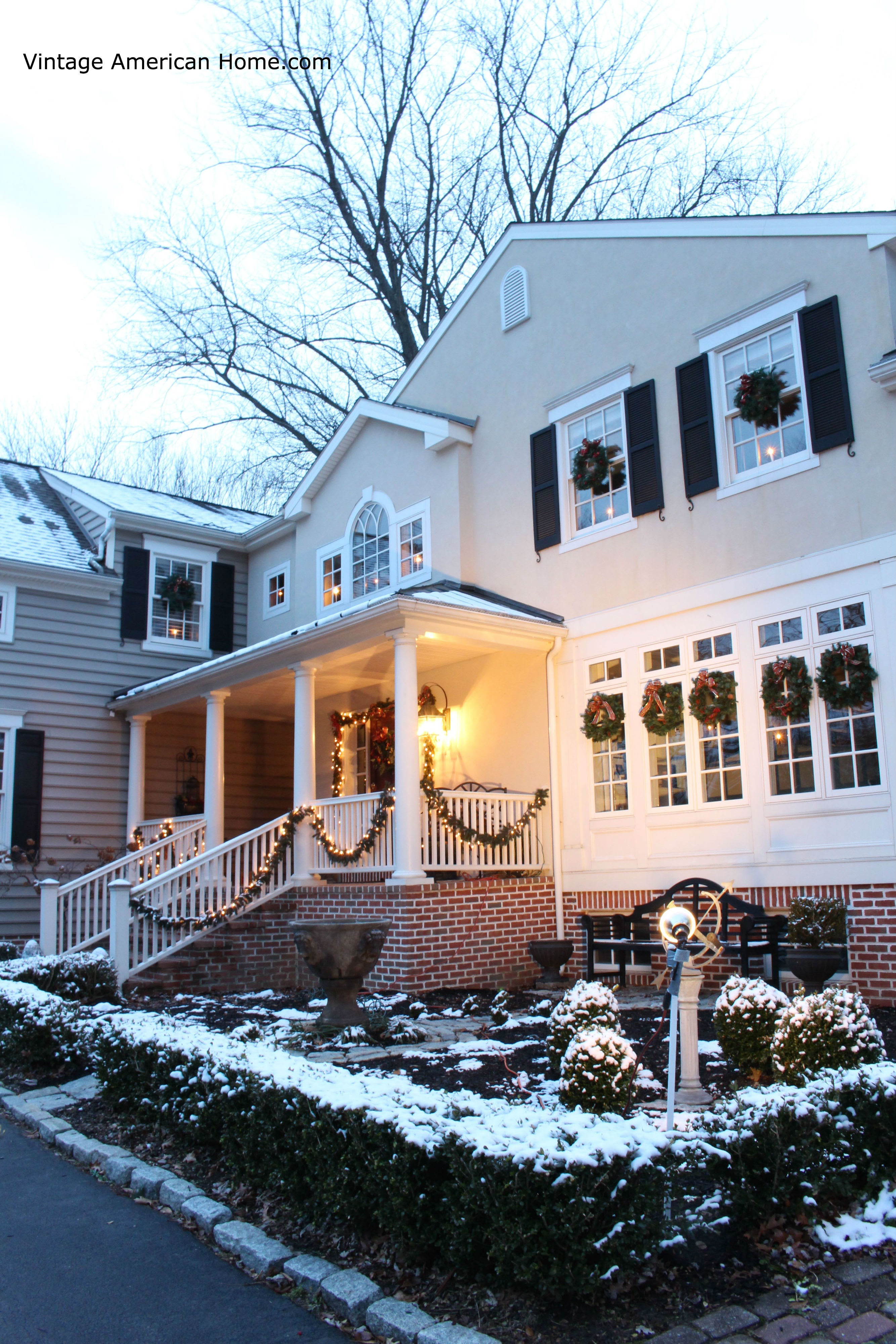 Decorating The Outside Of Your House For Christmas Vintage American Home