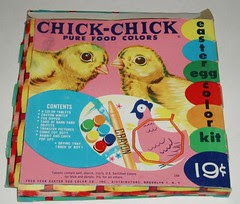 Chick Chick Easter Egg coloring kit