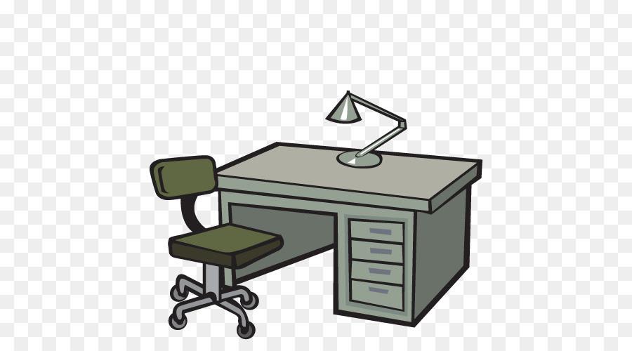 Office Desk Cartoon Png Clip Art Library