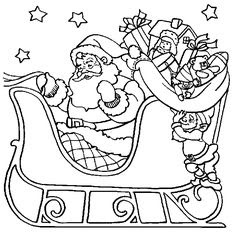 santa claus is coming to town coloring pages at