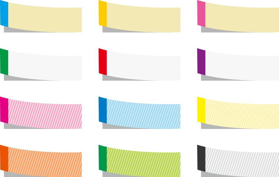 フリーイラスト 12種類の付箋のセットでアハ体験 Gahag 著作権