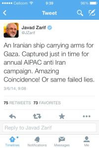 Zarif's Tweet