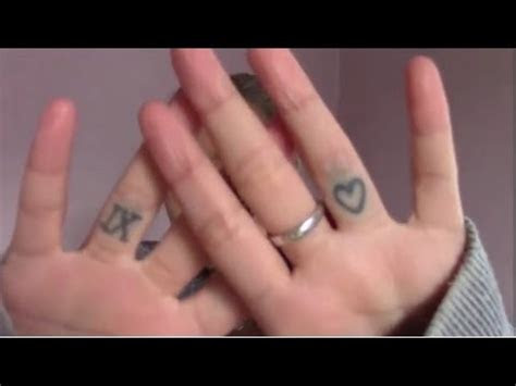 finger tattoos years youtube