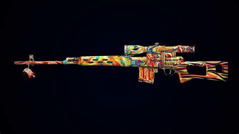 colorful gun svd psychedelic sniper rifle lsd