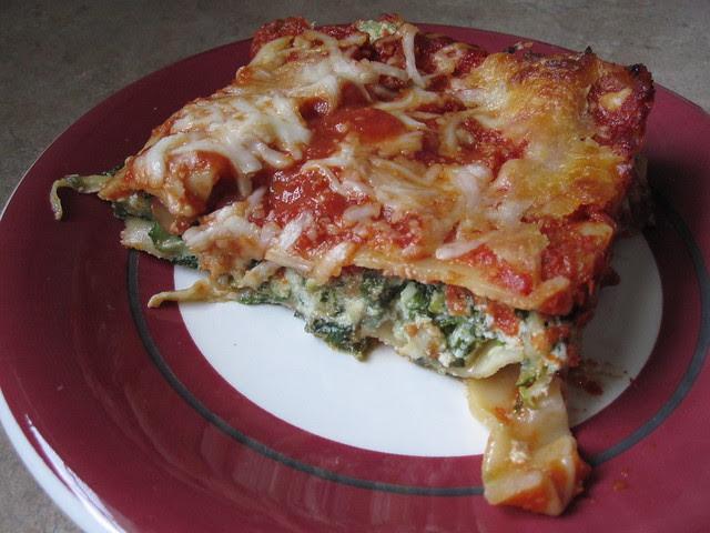 Spinach & Zucchini Lasagne