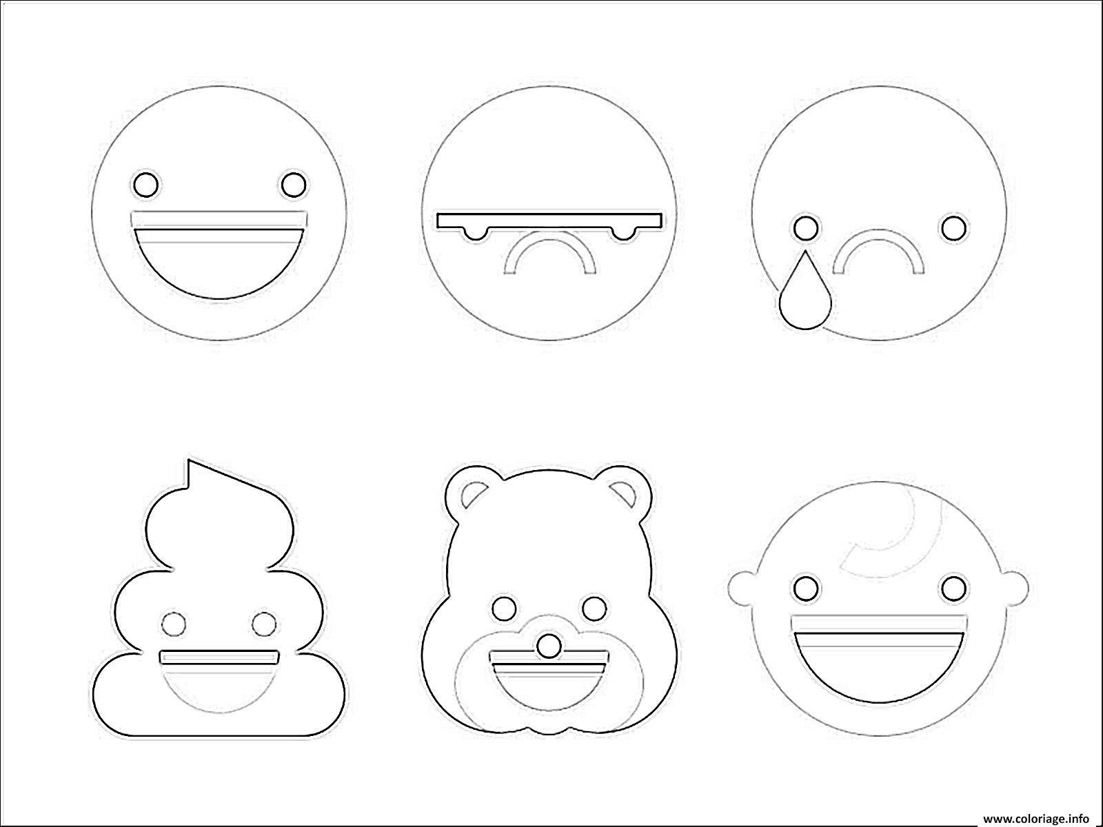 Coloriage Emoji à Imprimer