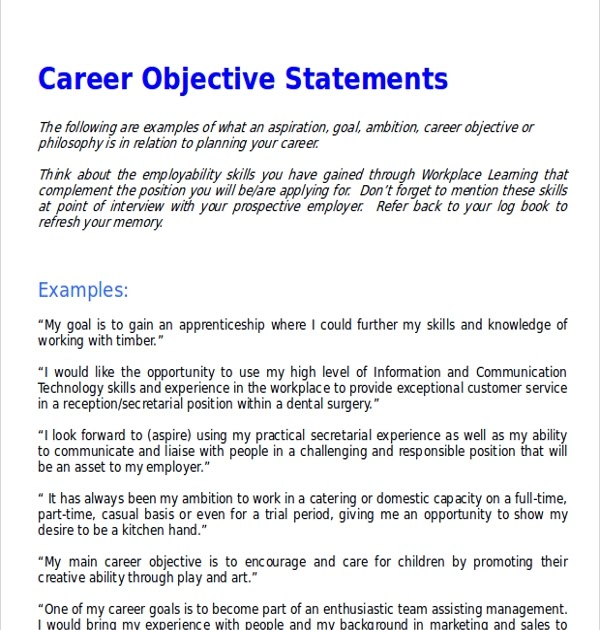 25 Lovely Professional Objective Statement Examples Best Resume