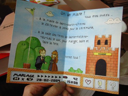 Wedding invitations, inside