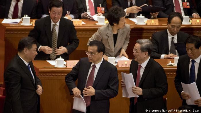 Xi Jinping, Yu Zhengsheng und Li Keqiang (picture alliance/AP Photo/N. H. Guan)
