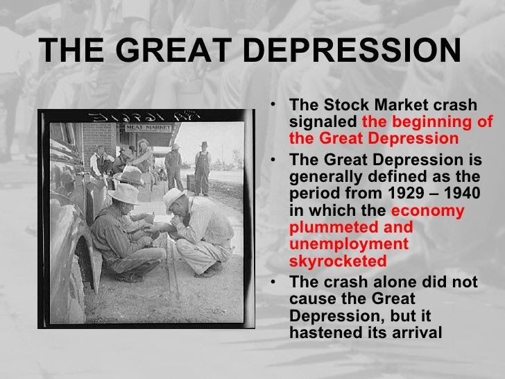 Beginning stock market crash 1929 caused great depression ...