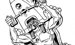 Action Man Denizaltı Boyama Sayfası
