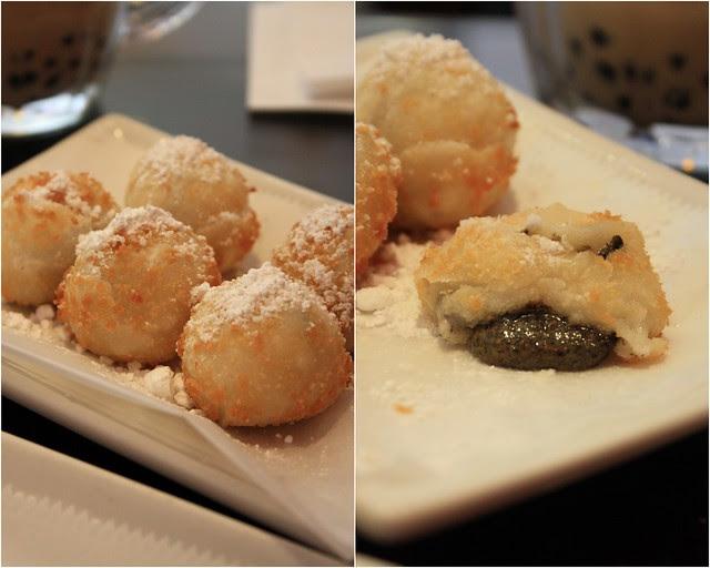 Fried Black Sesame Sticky Rice Dumplings