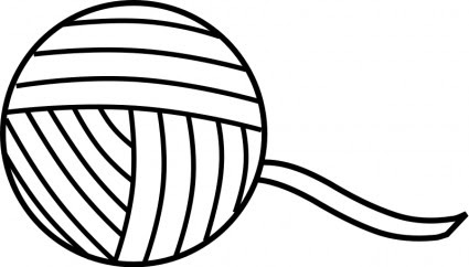 Yarn Line Art Vector Clip Art Free Vector Free Download