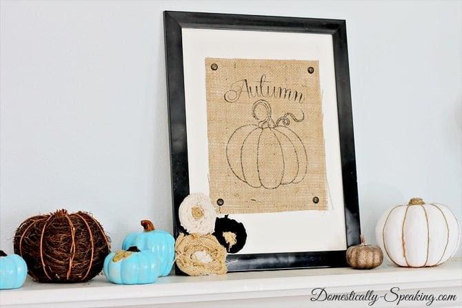 Autumn Burlap Pumpkin