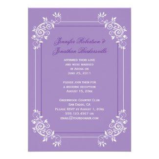 Vintage Lavender White Purple Swirls Post Wedding