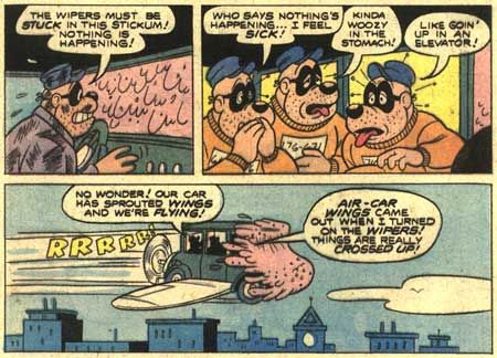 A Cliff Voorhees panel of Disney's Beagle Boys, for Western Publishing. © Disney