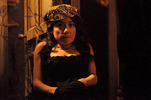 Selene Luna in Bergdorf Goodman's windows