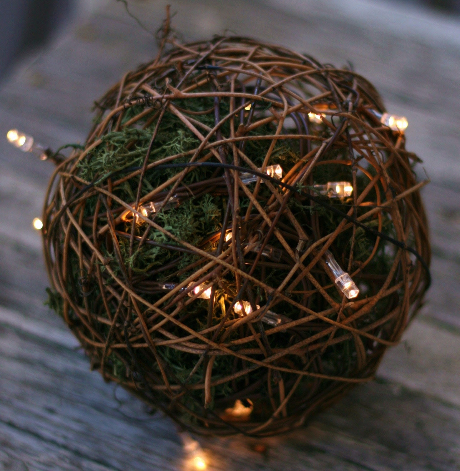 Outdoor Rustic Wedding Decoration Candles Firefly Lightning Bug Lanterns With Moss Woodland Forest Summer Fall CHIC