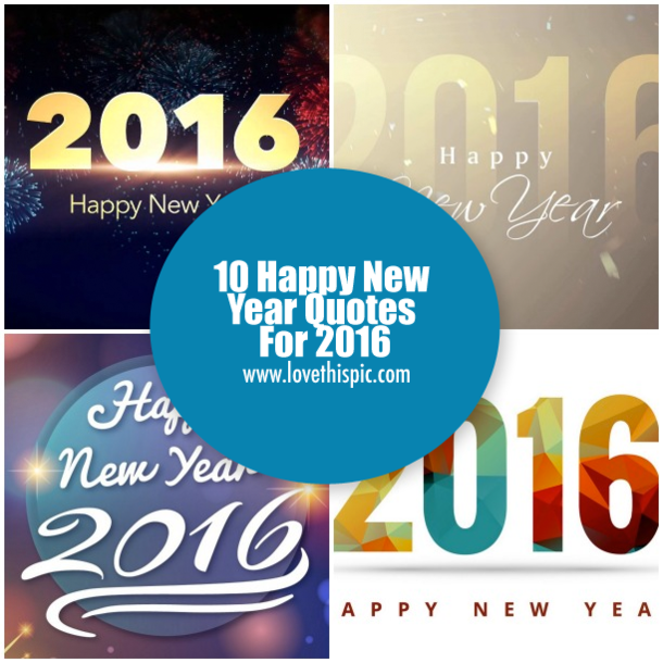 10 Happy New Year Quotes For 2016