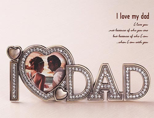 Metal Photo Frame I Love Dad 205cm Flowers And Gifts Hoa Doi