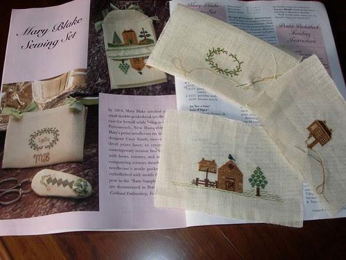 Mary Blake Sewing Set wip