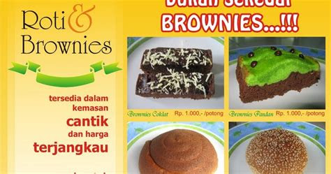 brosur roti  brownies firda bakery zlichs blog