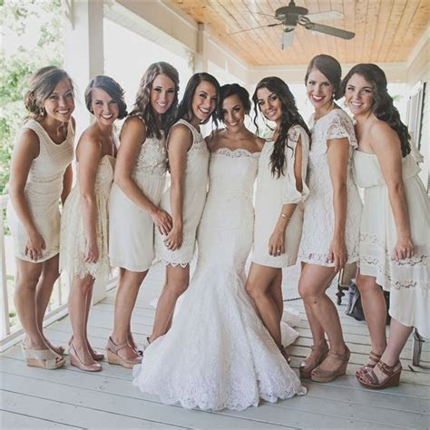 126.0  best Ivory Bridesmaids Dresses images by Bride's