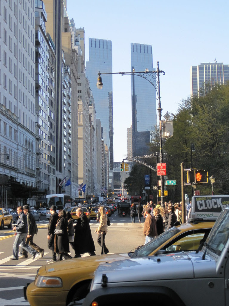 Central Park South, looking west from 5th