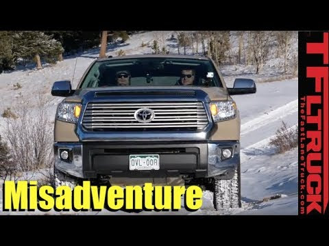 Can The Toyota Tundra TRD Off-Road Make It Up a Snowy Cliffhanger?