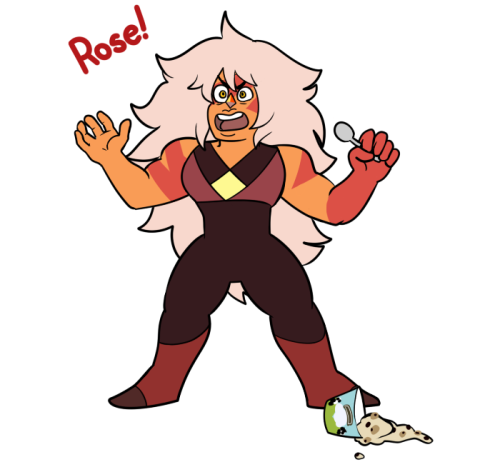 "Anonymous said: Draw Jasper eating ""challenging and difficult"" ice cream Answer: Iced cream is truly the work of the crystal gems(why this is even asked if anyone wonders why ice cream)"