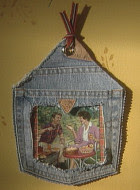 denim photo frame