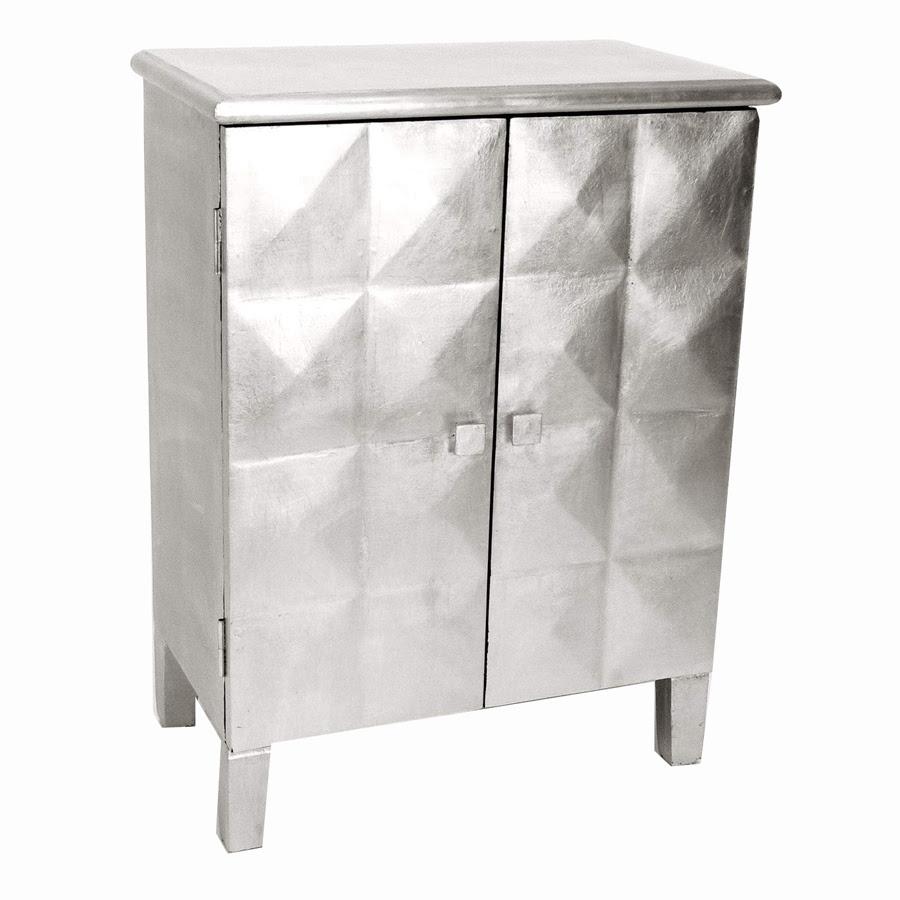 Shop Wayborn Furniture Silver Leaf 2-Shelf Office Cabinet ...