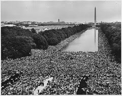 Civil Rights March on Washington, D.C. [A wide...