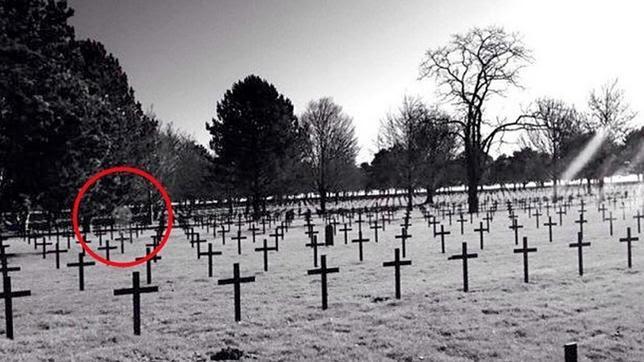 Fotografían a un supuesto fantasma en un cementerio de la I Guerra Mundial en Francia
