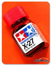 Enamel Paint by Tamiya - X-27 - Clear Red - 10ml