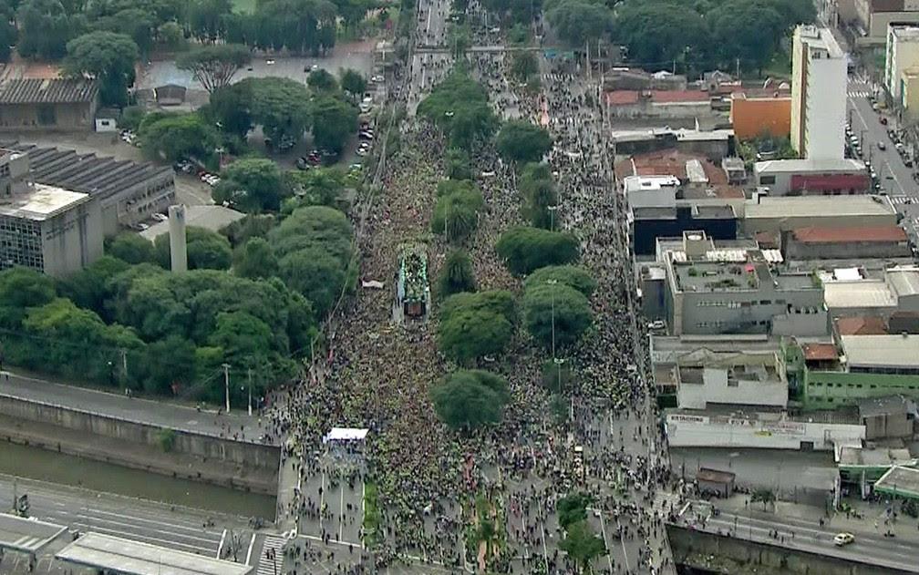 Marcha para Jesus em São Paulo (Foto: TV Globo/Reprodução)