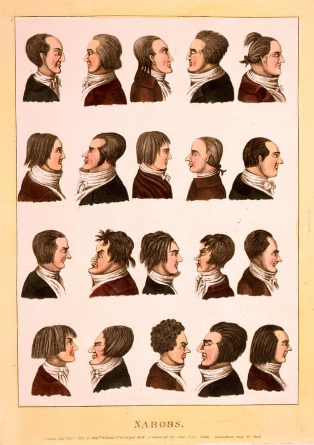 Portraits of Nabobs, or representatives of the East India Company.