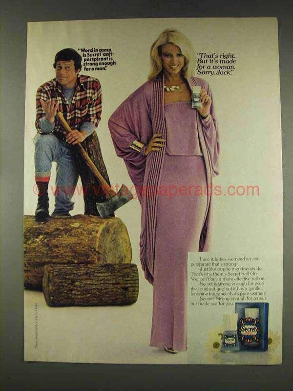1977 Secret Deodorant Ad Strong Enough