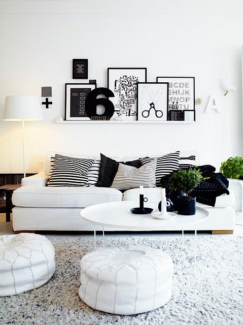 mantle or high ceiling, combination of leaned/layered and hung contrasting items