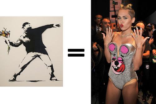 Banksy = Miley Cyrus