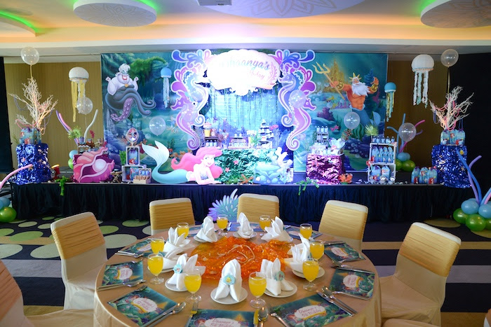 Little Mermaid Candy Table Principlesofafreesociety