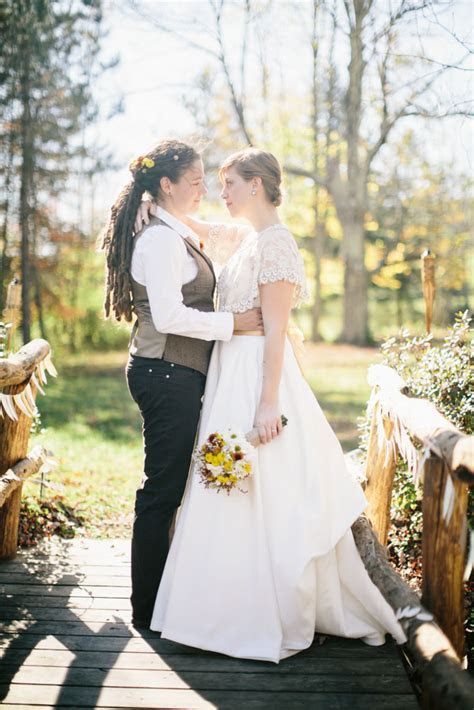 Rustic and Autumnal Farm Wedding: Christina & Tamsen