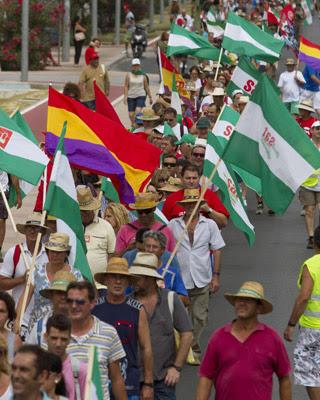 La marcha obrera 'Andalucía en pie'