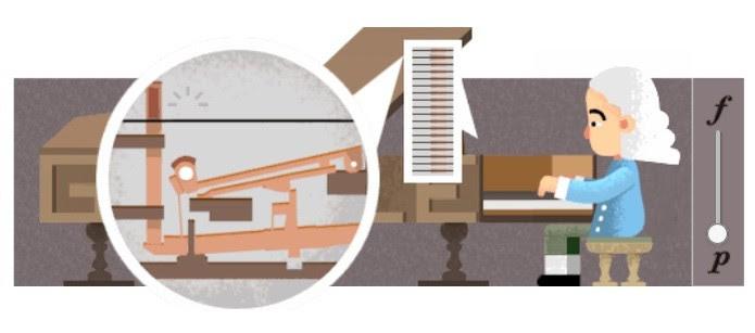 Quem inventou o piano? Doodle celebra 360º aniversário de Bartolomeo Cristofori (Foto: Reprodução/Google)